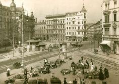 Obecny plac Legionów, dawniej Słoneczny. Widok od strony ul. Kościuszki w kierunku obecnych ulic Grabiszyńskiej i I. Pawłowa. Rok 1908