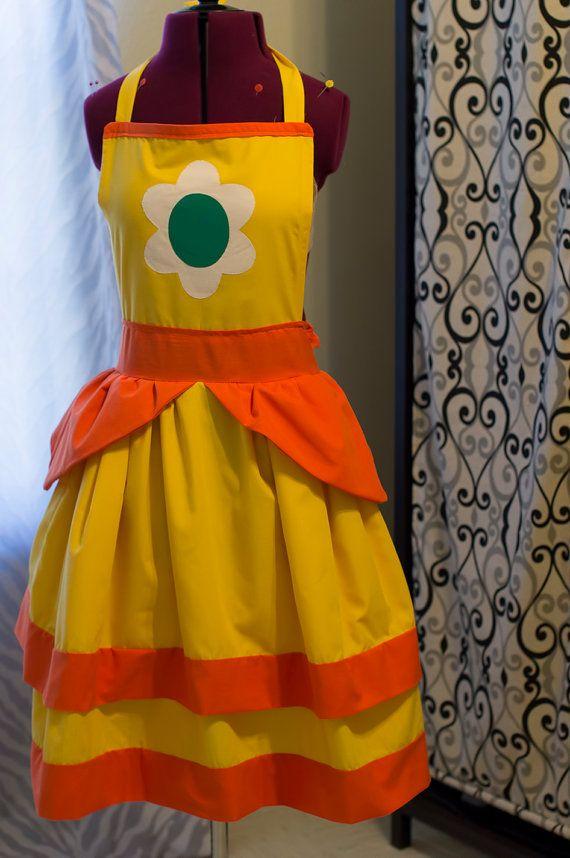 Super Mario Bros Princess Daisy Apron by MoonlightCrisis on Etsy, $55.00