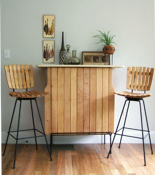 Arthur Umanoff bar and stools