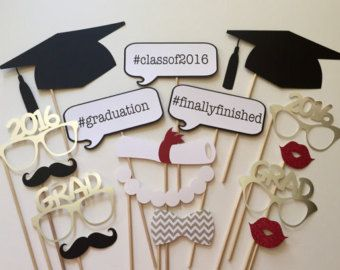 Class of 2016 Graduation Party Photo Booth Prop by Cutieparty