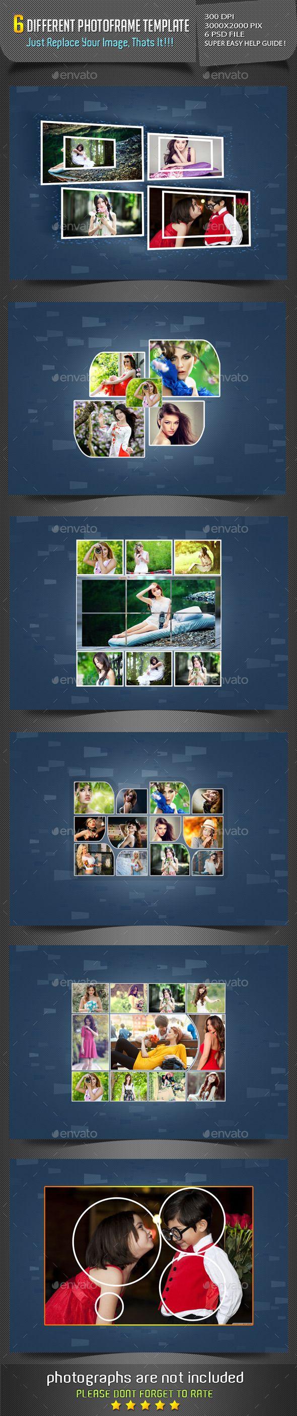 Different Photo Frame Templates #design Download: http://graphicriver.net/item/different-photo-frame-templates-/12020942?ref=ksioks