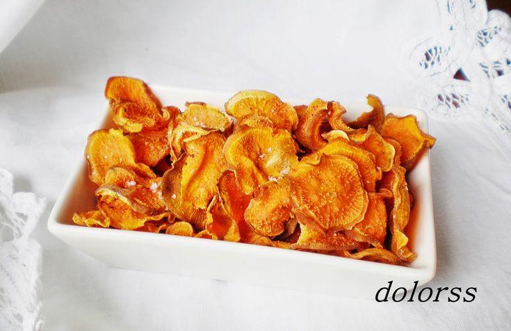 receta de moniato, receta de batata, chips, xips al horno, sencillo, receta fácil, vegetarianos, sin gluten, celíacos, aperitivo perfecto.