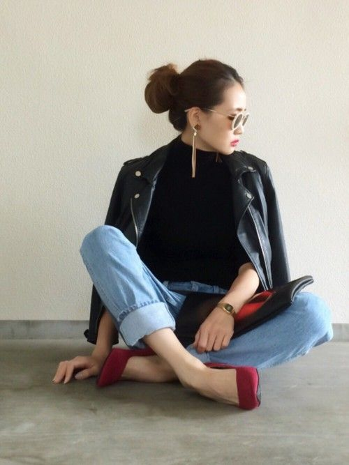 Yukie♡i|Bershkaのライダースジャケットを使ったコーディネート - WEAR