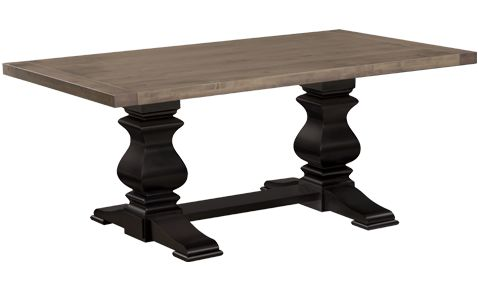 American Made Napa Valley Solid Top Dining Table Has