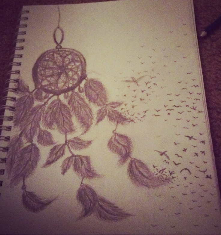Dream catcher drawing by Haley Lucero