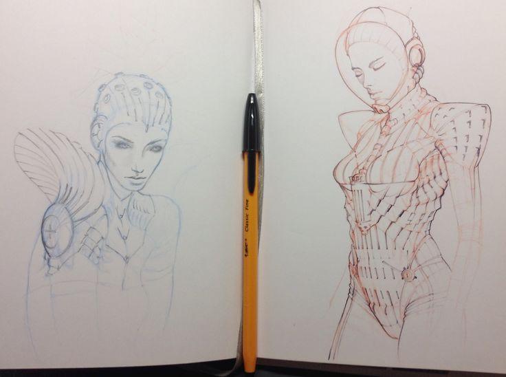 Ballpoint dev sketches. Art by shanewarild
