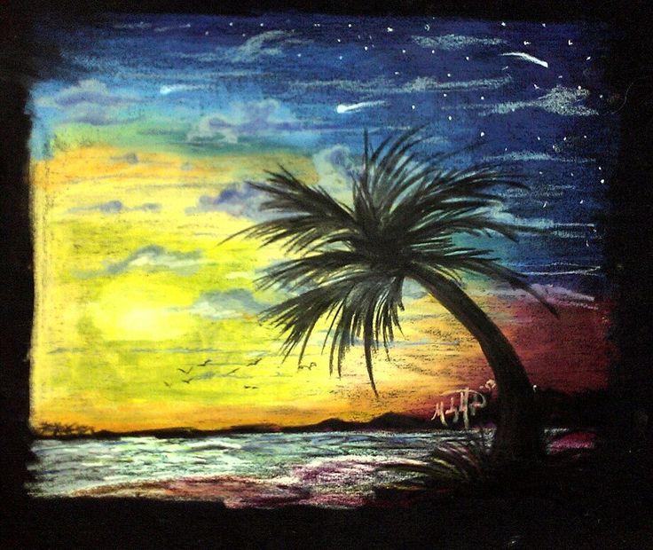 Oil Pastel On Black Canvas Madelyn Janelle Pinterest