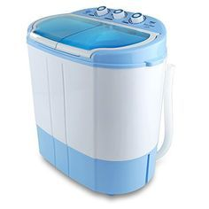 Electric Portable Washer & Spin Dryer, Mini Washing Machine and Spin Drying Twin Tub Washer   for Dorms, College Rooms, RV Camping Swim Suit Spinner Dryer (PUCWM22)