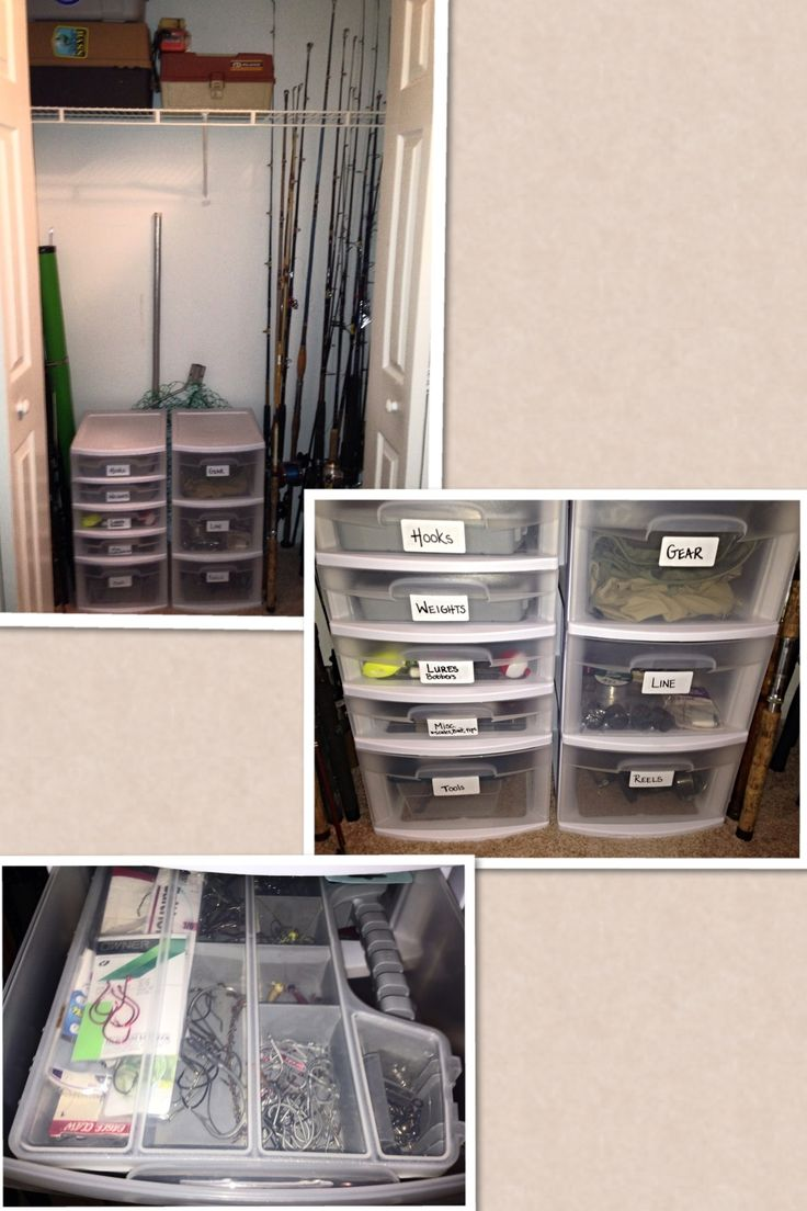 How to organize fishing gear. Apartment. Closet. Fishing. Lures. Poles. Fish. Cast.