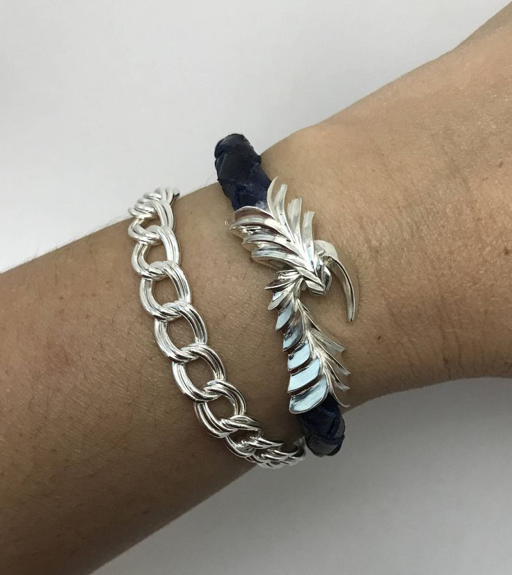 Dragon Claw Leather Bracelet -Leather Bracelet- Braided Leather Bracelet- Dragon Claw Clasp- Sterling Silver 925-Jewellery Handmade in U.S.A