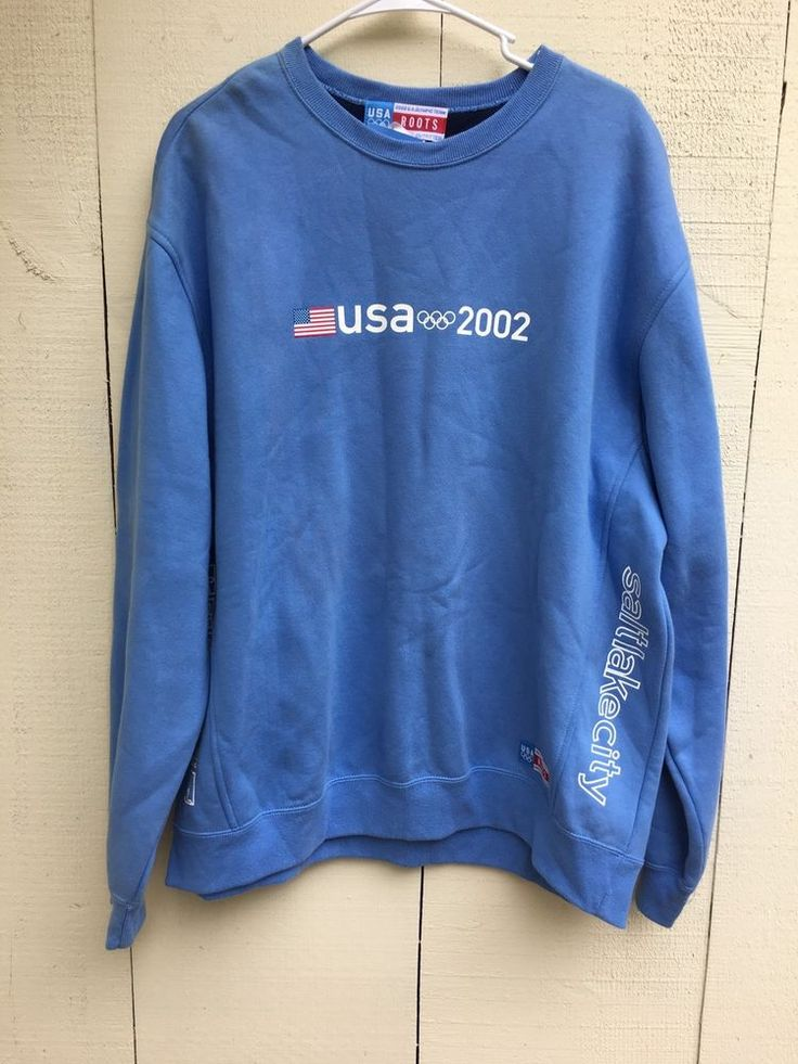 ROOTS 2002 Olympic USA Sweatshirt Size XL. New #Roots #USA