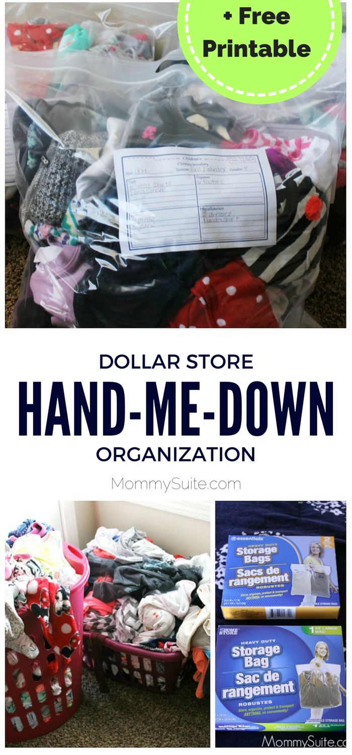 This is a simple way to organize kids' clothes! I love it!
