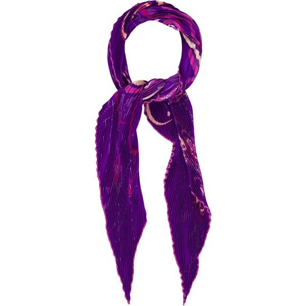 Pre-owned Herm?s Comme Histoires Silk Pliss? Scarf (15,815 INR) ❤ liked on Polyvore featuring accessories, scarves, purple, colorful shawls, hermes shawl, purple scarves, multi colored scarves and silk shawl