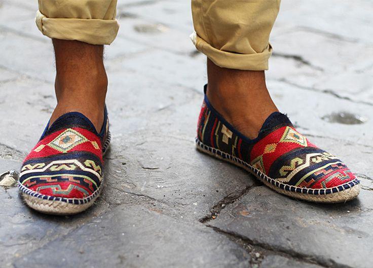 colorfull espadrilles menswear shoe style