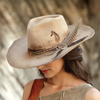 Wild Mustang Hat made by Montana Dreamwear. Too perfect for words. ~ Crows Nest Trading Company