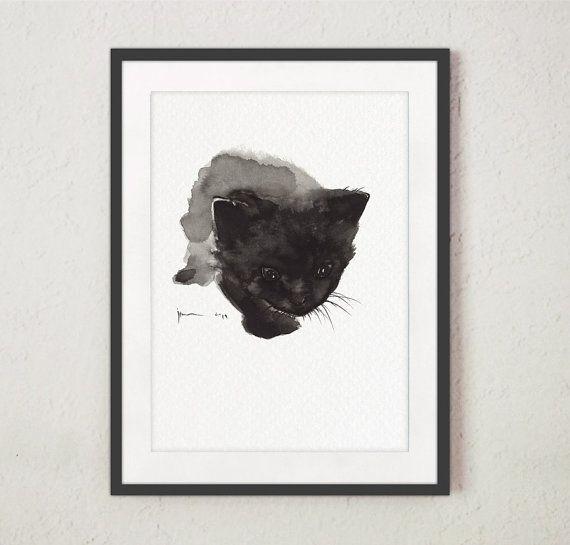 M s de 25 ideas en tendencia sobre arte del gato negro en El gato negro decoracion