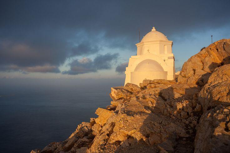 Panagia Kalamiotissa church peak of Kalamos rock