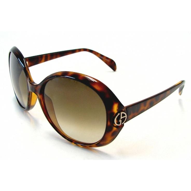 Giorgio Armani Tortoise Print Round Sunglasses