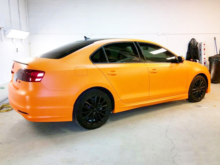 3M Matte Bright Orange full color change wrap- 2010 Volkswagen Jetta