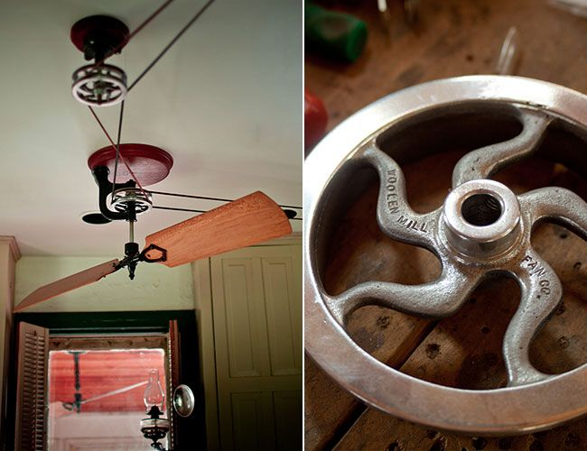 17 best images about ceiling fans on pinterest copper ceiling belt driven ceiling fans and - Ceiling fan pulley system ...