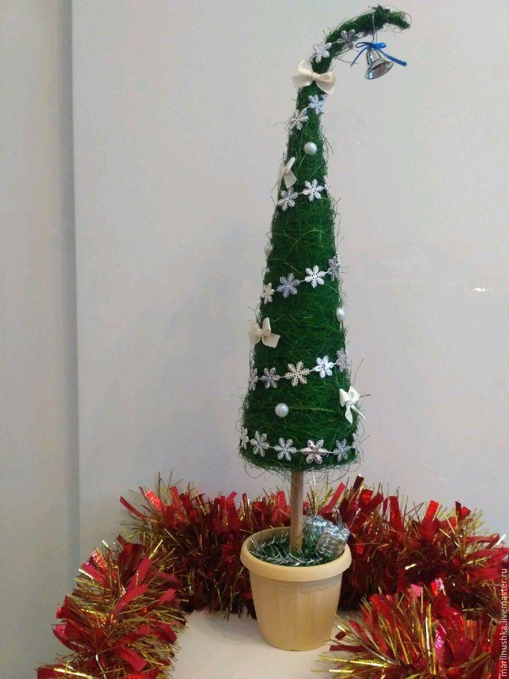 Купить Ёлочка из сизаля - елочка новогодняя, елочка, елочка из сизаля, сизалевая ёлочка, новогодняя елка