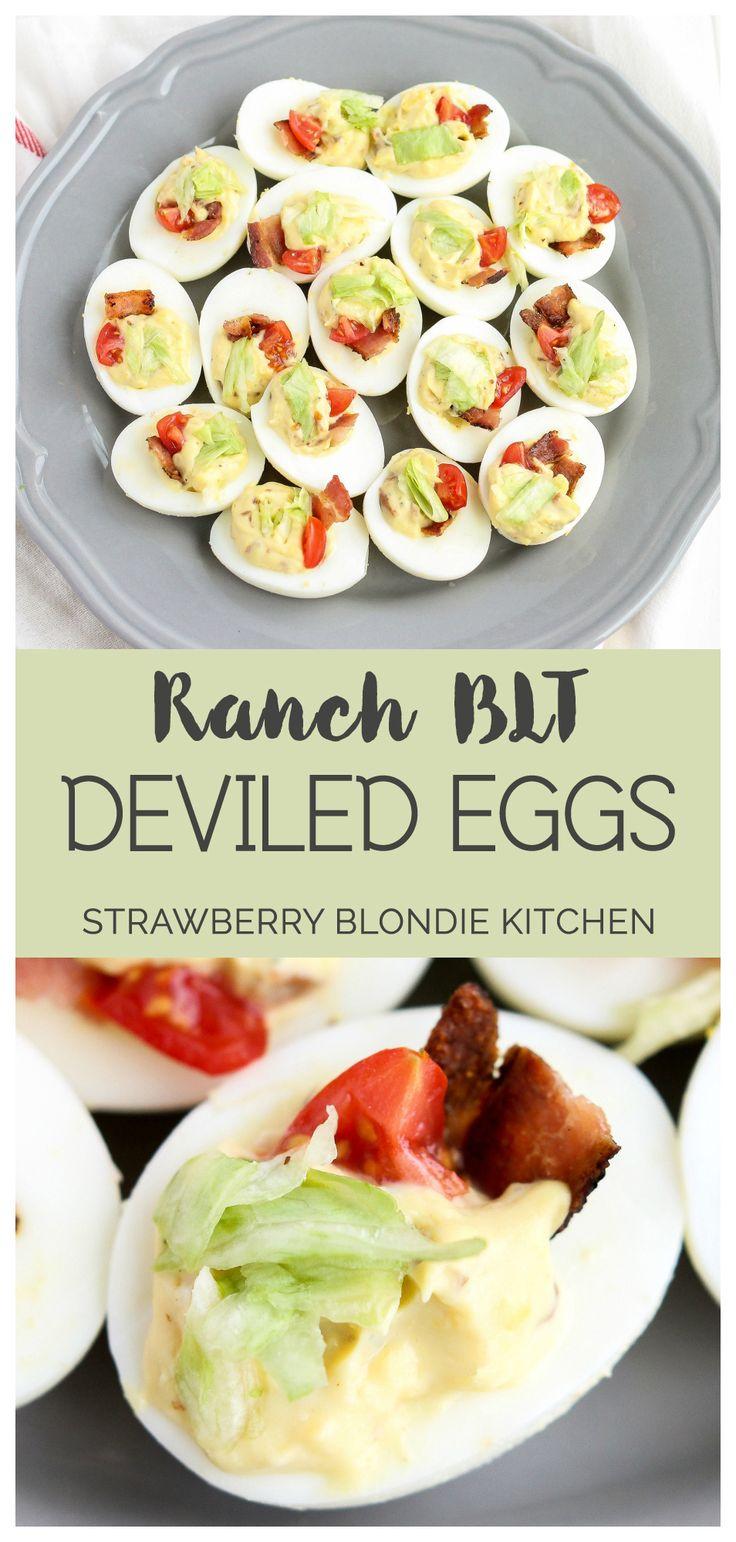 Ranch BLT Deviled Eggs | Strawberry Blondie Kitchen