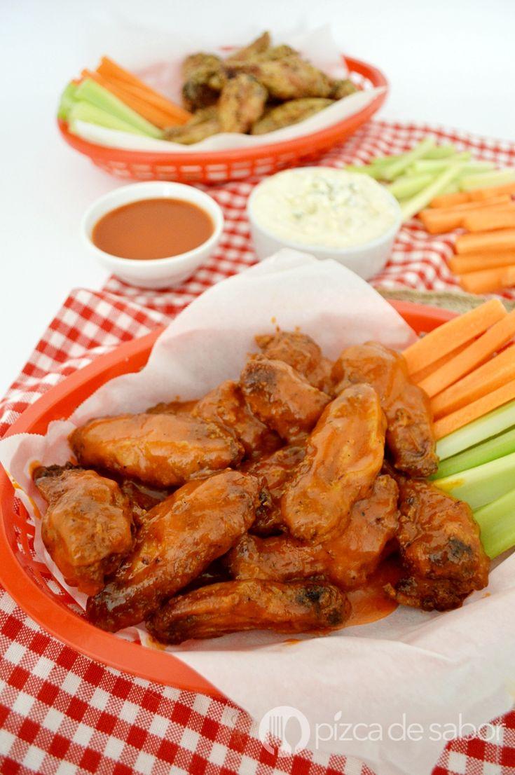 Alitas picantes o buffalo wings www.pizcadesabor.com