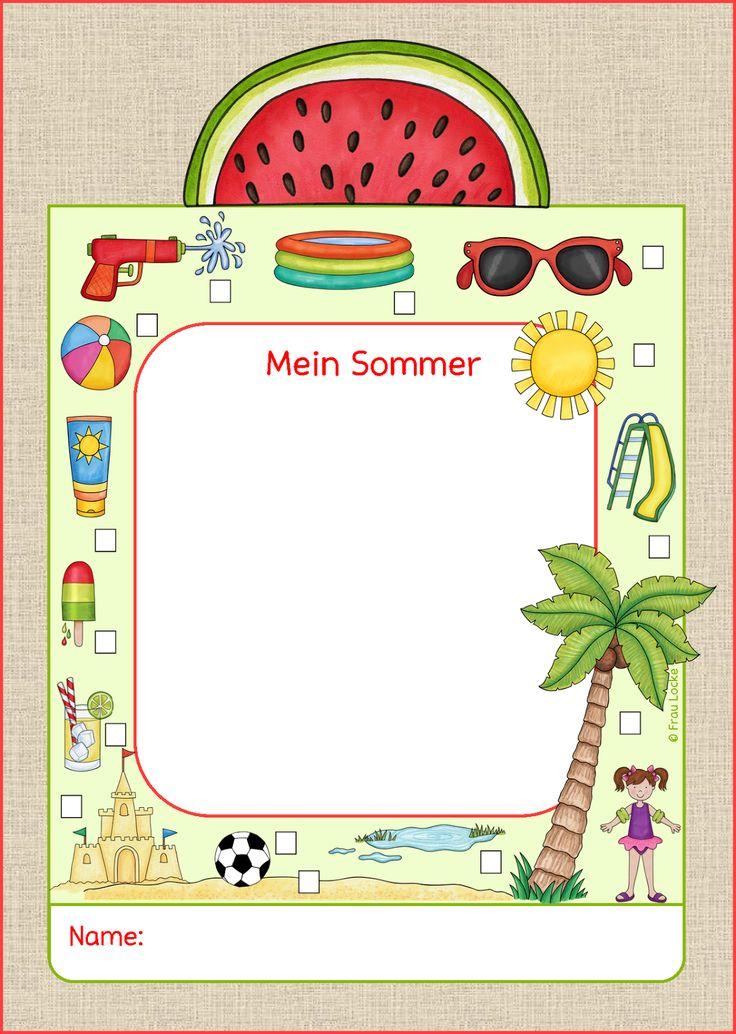 Frau Locke: Sommer - Erzählkarte