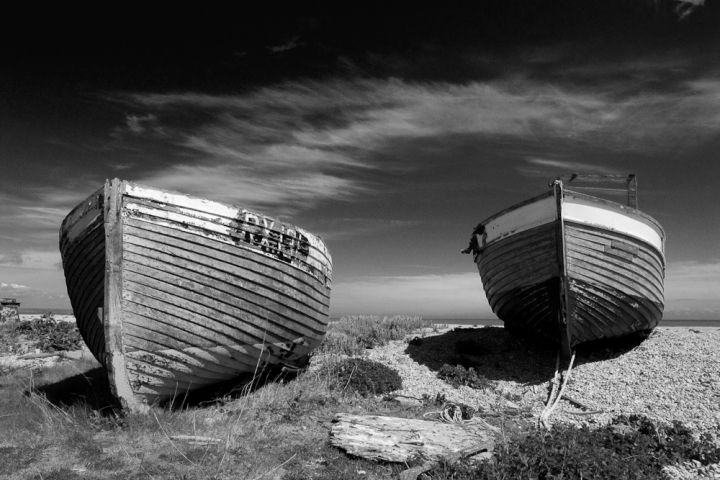 Fishing boats, on the shail beach at Dungeness ~ http://deptfordvisions.com