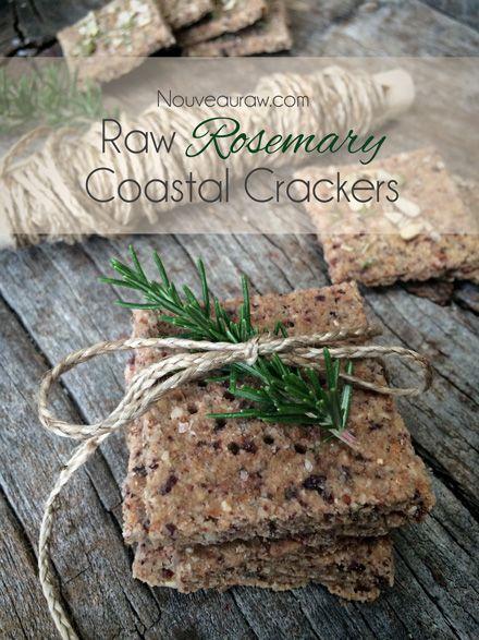 Rosemary Coastal Crackers (raw, GF, vegan)