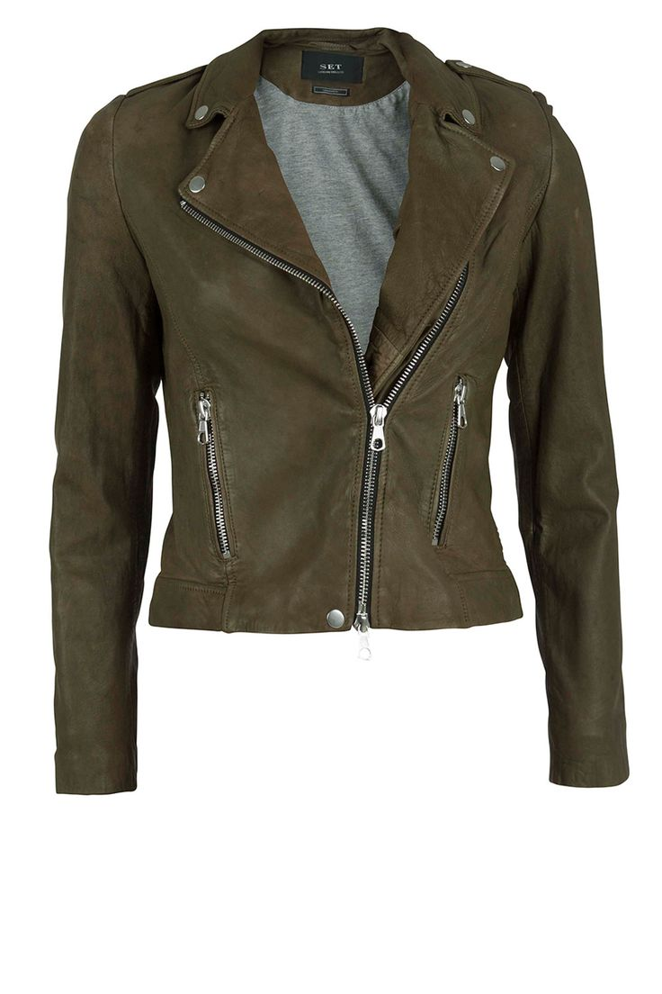 SEASON MUSTHAVES | Leather jacket Tyler: http://www.littlesoho.com/leren-jasje-tyler-kaki-p-29664.html