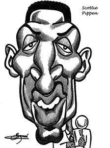 Scottie Pippen Drawing - Scottie Pipen by Miguel Romani