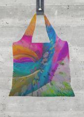 Tote Bag - MOLECULAR RAINBOW ROSE by VIDA VIDA 8iaNG80k