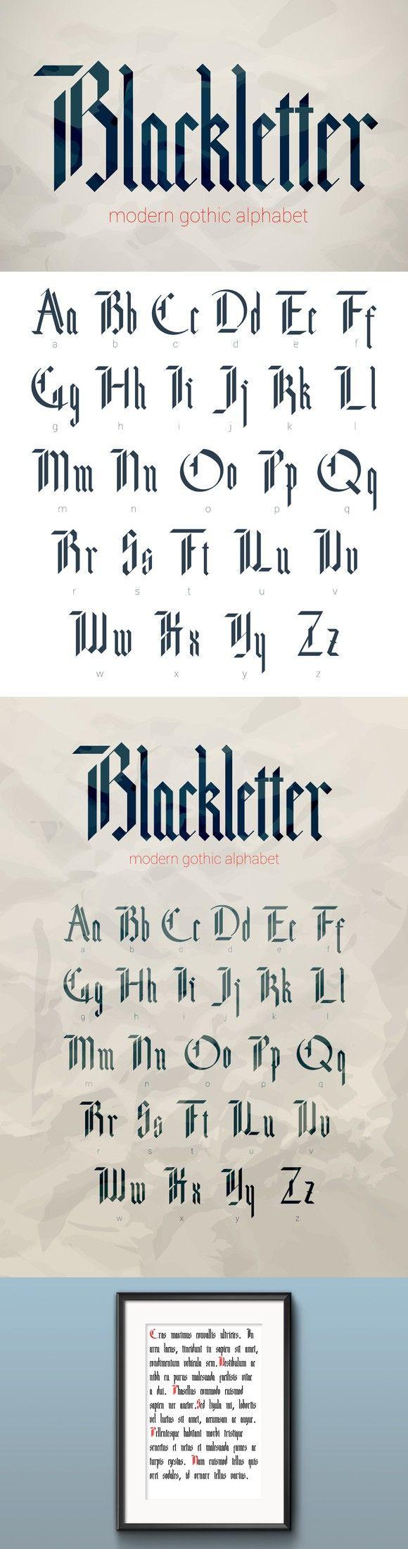 Blackletter modern gothic font.. Fonts. $12.00