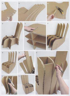 Mecedora de cartón - Fauteuil à bascule en carton