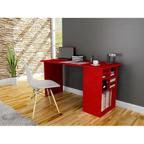 Akasya Çalışma Masası - Kırmızı