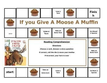 Give a Moose a Muffin: Cause and Effect Print 'n Go Activities