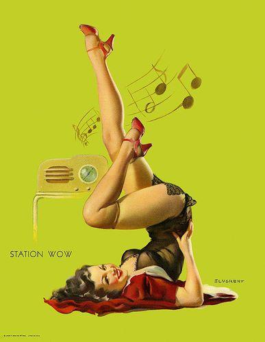Music and yogaMusic, Gilelvgren, Vintage Pin, Pinupart, Pin Up Art, Pinup Girls, Pin Up Tattoo, Gil Elvgren, Pin Up Girls