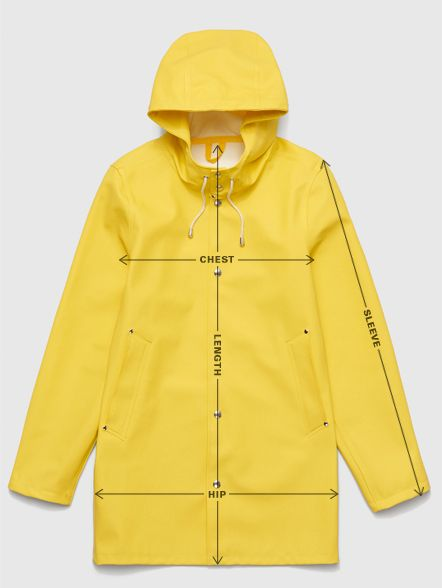 Stutterheim Raincoats size guide. Shop online now.