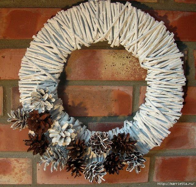 Новогоднее плетение из газет. ЗВЕЗДЫ из газетных трубочек (80) (640x612, 393Kb)