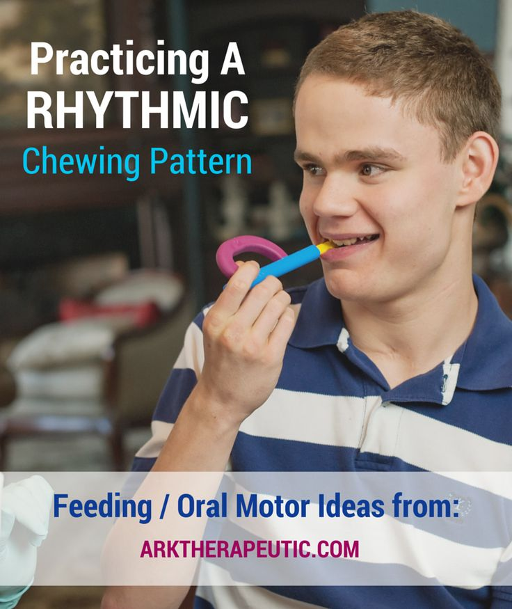 ARK Therapeutic: Practicing a Rhythmic Chewing Pattern - Feeding Therapy Strategies. Pinned by SOS Inc. Resources. Follow all our boards at pinterest.com/sostherapy/ for therapy resources.