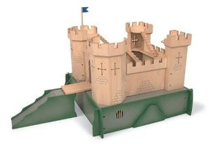 Pintoy Wooden Medieval Castle With Mound by Pintoy at the Pintoy Toys £116.32