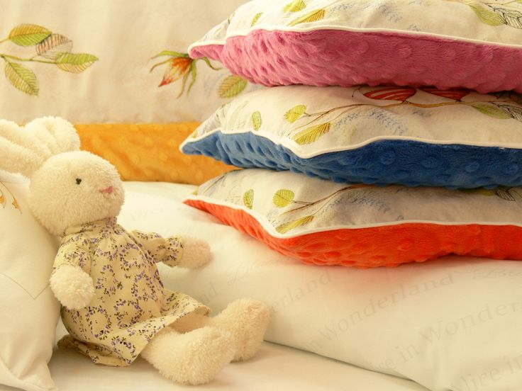 Sweet pillows for pram, cot. Made of pure cotton and Minky