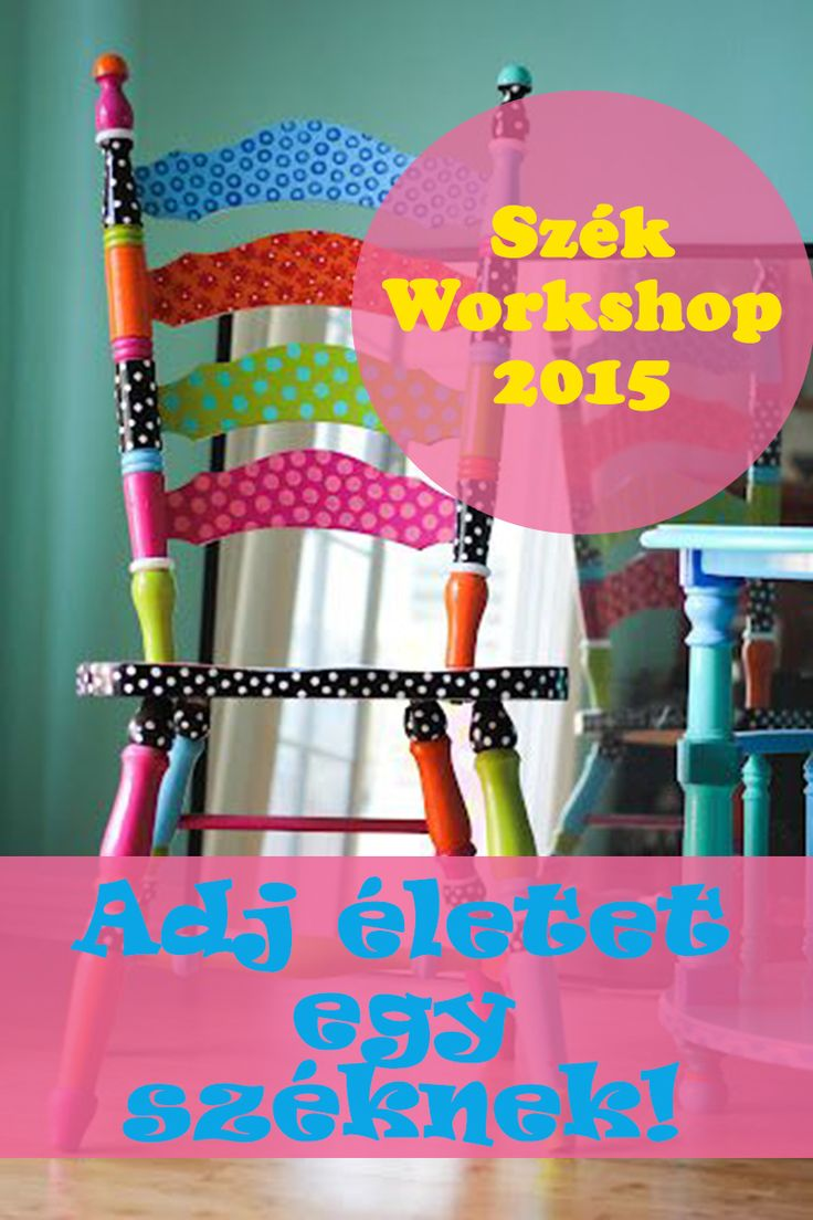 Chair workshop poster. Give a new life for a chair!