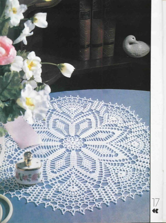 Crochet Doily Round White Lace Crocheted Doily by CrochetMiracles, $21.00