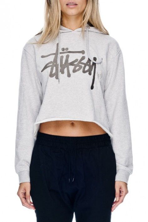 GRAFFITI CM CROP HOOD - Hoodies & Sweaters - Shop Womens | Stussy Australia