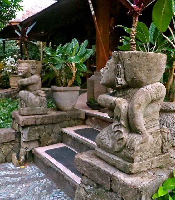 Stone Sculptures in Balinese Restaurant Garden by 1CheekyChimp, via Flickr