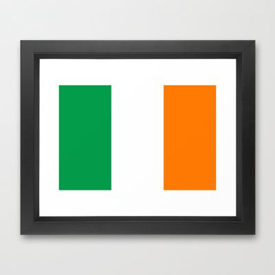 National flag of the Republic of Ireland - Authentic 3:5 Version Framed Art Print by LonestarDesigns2020 - Flags Designs + - $32.00
