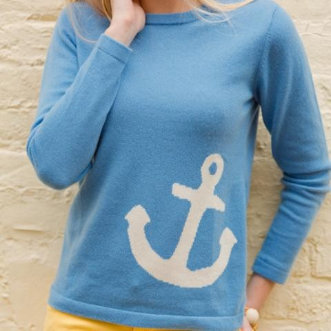 Cashmere Anchor Sweater