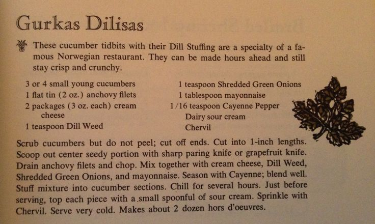 Gurkas Dilisas from 1961 Spice Island Cookbook